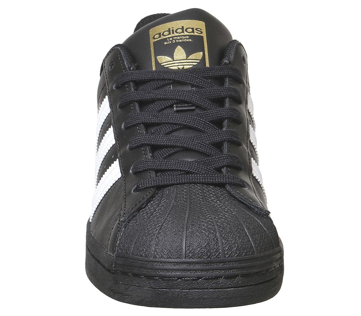 Adidas-Superstar-Baskets-Noir-Blanc-Baskets-Chaussures miniature 11