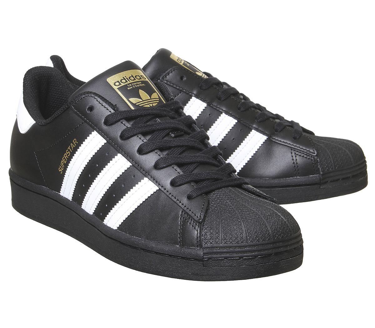 Adidas-Superstar-Baskets-Noir-Blanc-Baskets-Chaussures miniature 5