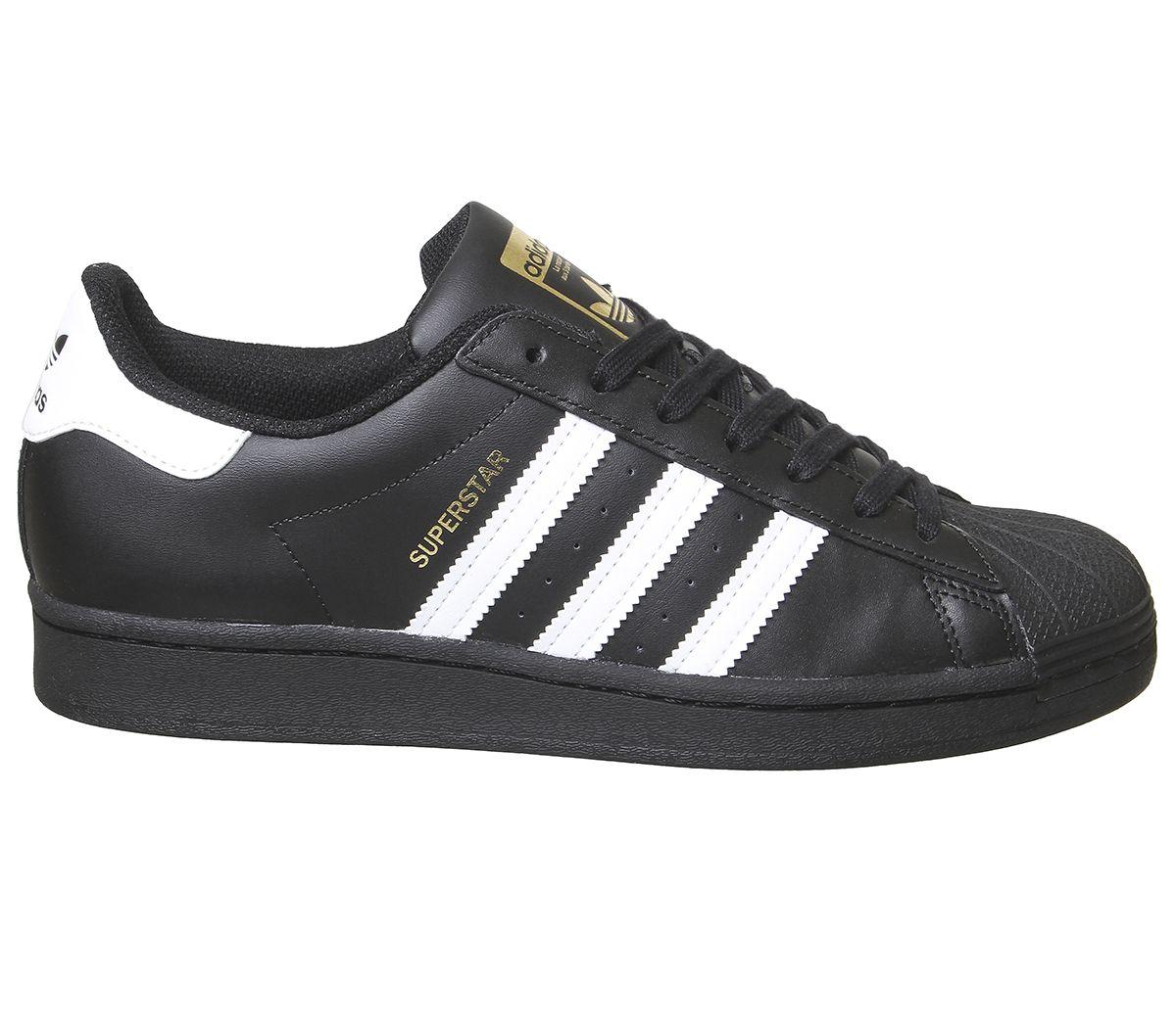 Adidas-Superstar-Baskets-Noir-Blanc-Baskets-Chaussures miniature 10
