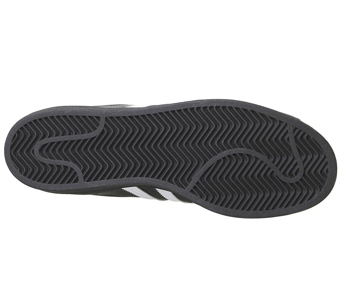 Adidas-Superstar-Baskets-Noir-Blanc-Baskets-Chaussures miniature 4
