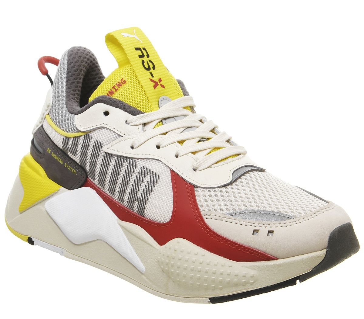 Details about Mens Puma Rs X Bold Trainers Whisper White High Rise Red Blazing Yellow Trainers