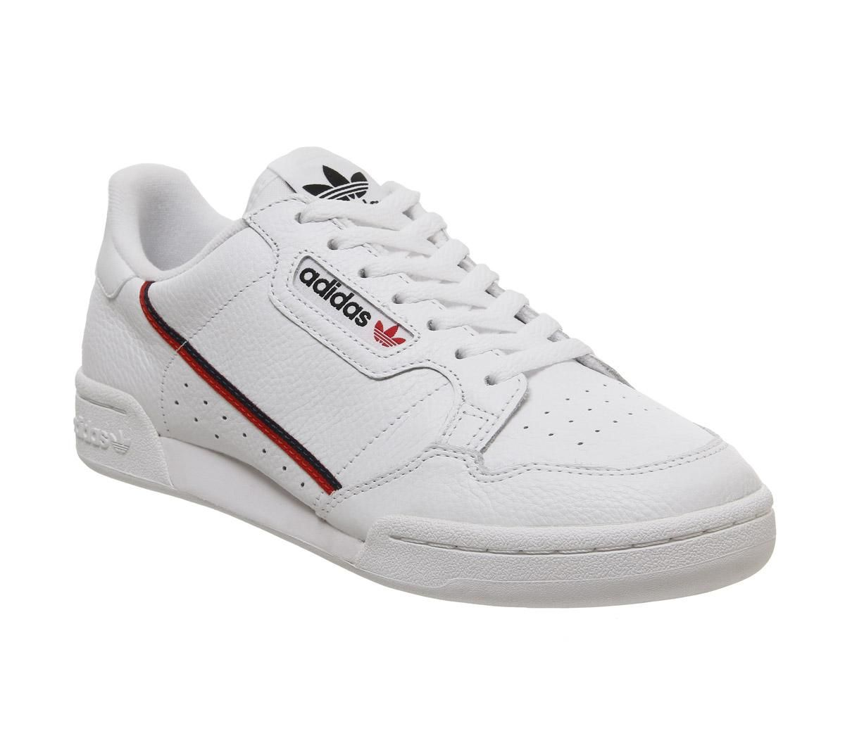 Details about Adidas Continental 80s Flash Sneakers White Red Navy- show  original title