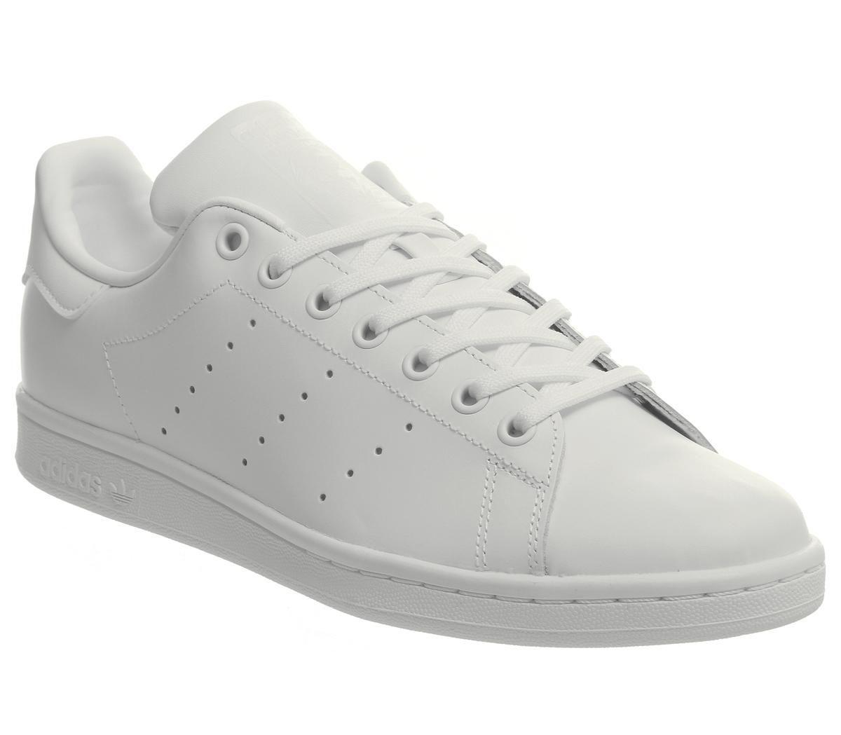 Détails sur Femmes adidas Stan Smith Flash Baskets Blanc Mono Baskets