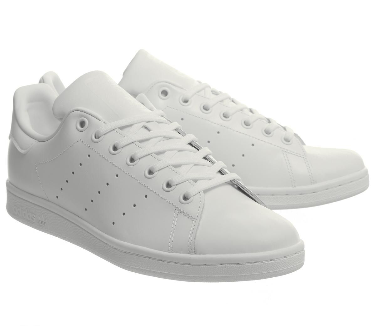 6613dd43 Details about Womens Adidas Stan Smith Flash Trainers White Mono Trainers  Shoes