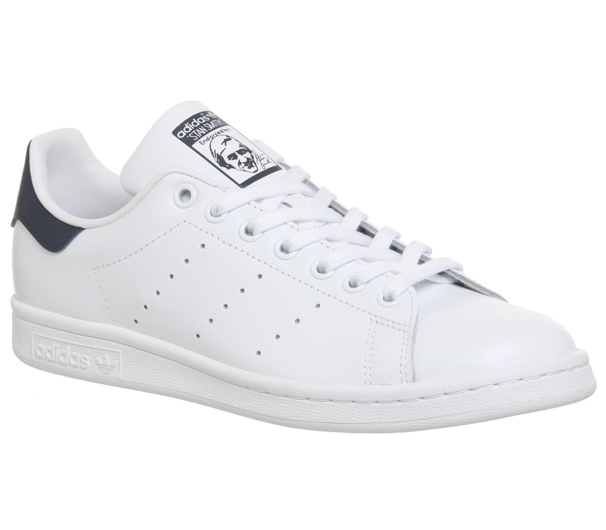 Détails sur Femmes adidas Stan Smith Flash Baskets Blanc Bleu Baskets