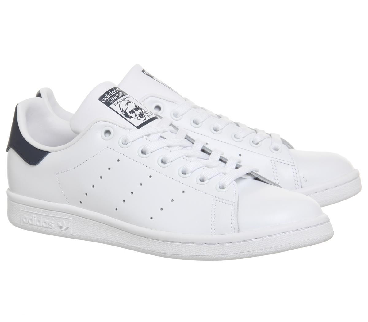 promo code cozy fresh performance sportswear Détails sur Femmes adidas Stan Smith Flash Baskets Blanc Bleu Baskets