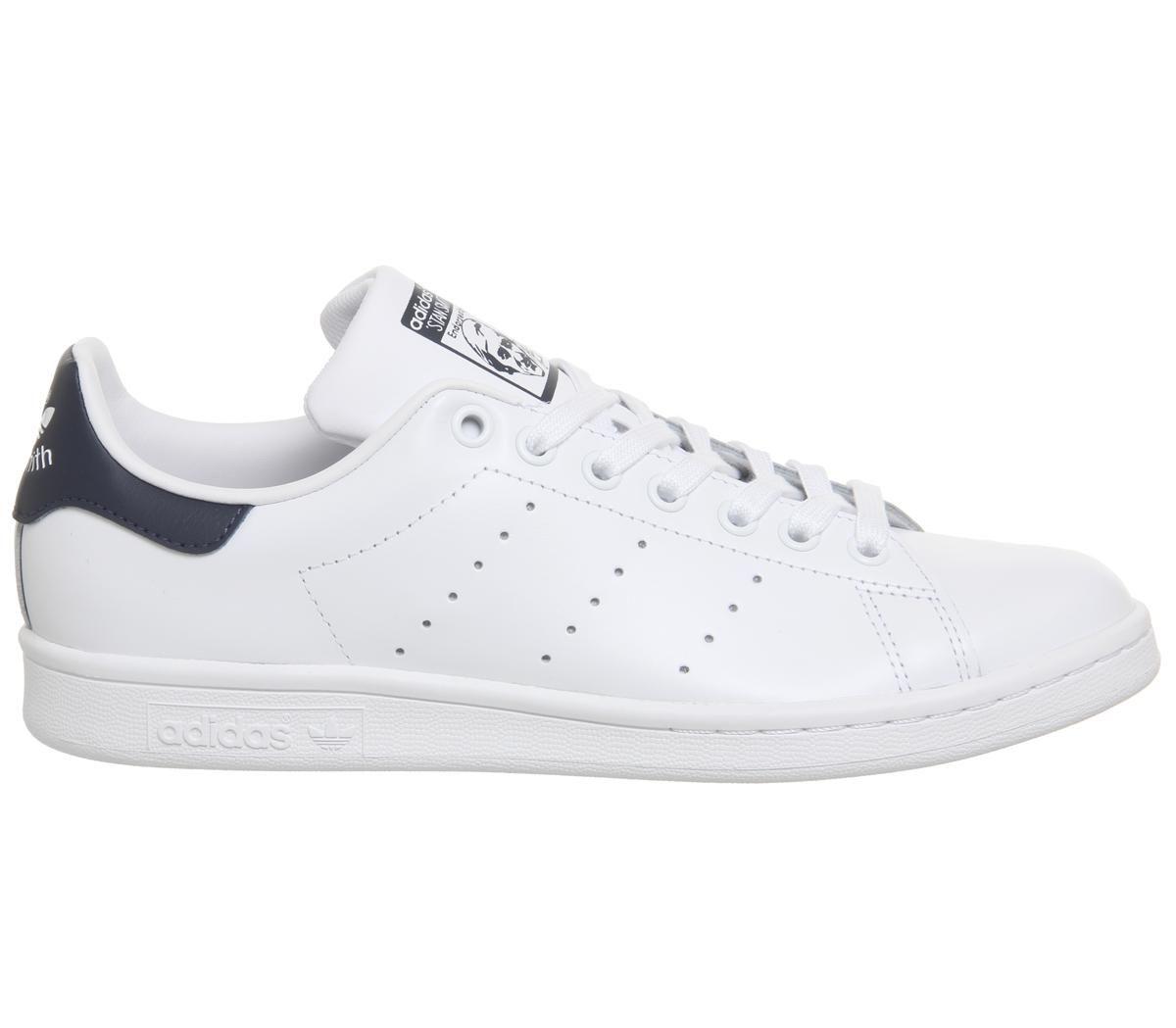 Détails sur Femmes adidas Stan Smith Flash Baskets Blanc Bleu Baskets