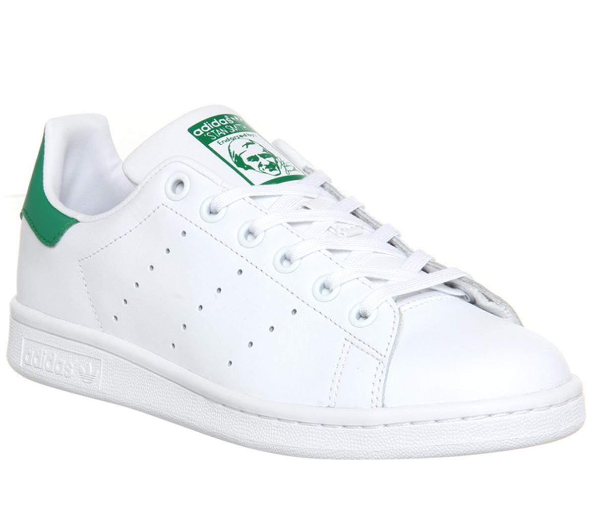 Detalles de Mujer adidas Stan Smith Flash Zapatillas Blanco Verde  Zapatillas Deportivas