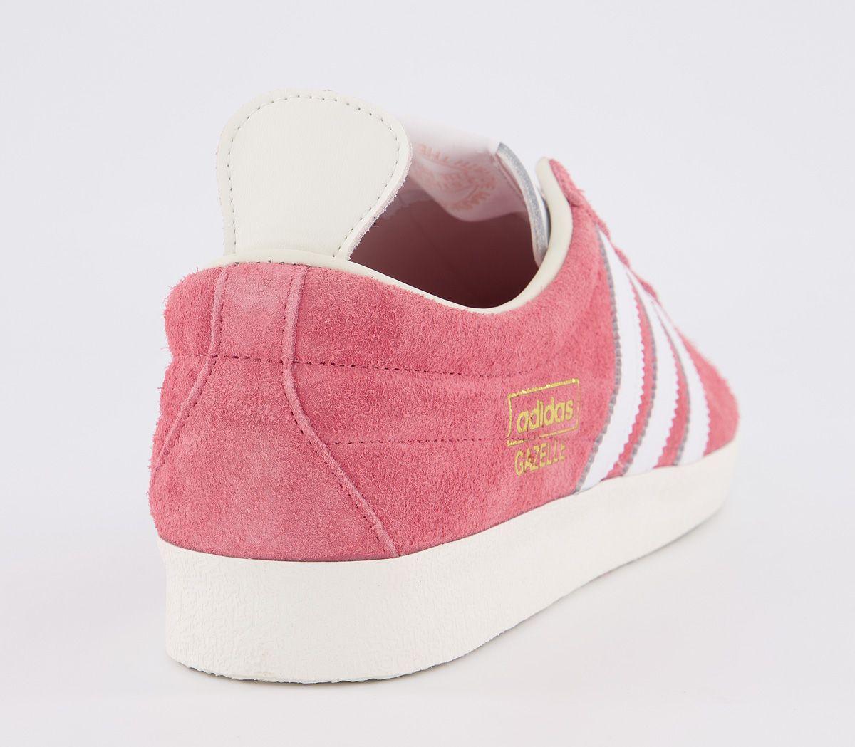 Adidas-Gazelle-Vintage-Baskets-Real-Rose-Blanc-Blanc-Baskets-Chaussures miniature 4