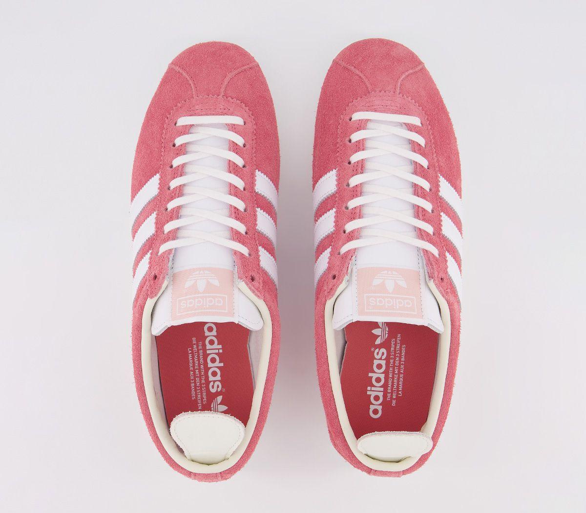 Adidas-Gazelle-Vintage-Baskets-Real-Rose-Blanc-Blanc-Baskets-Chaussures miniature 5