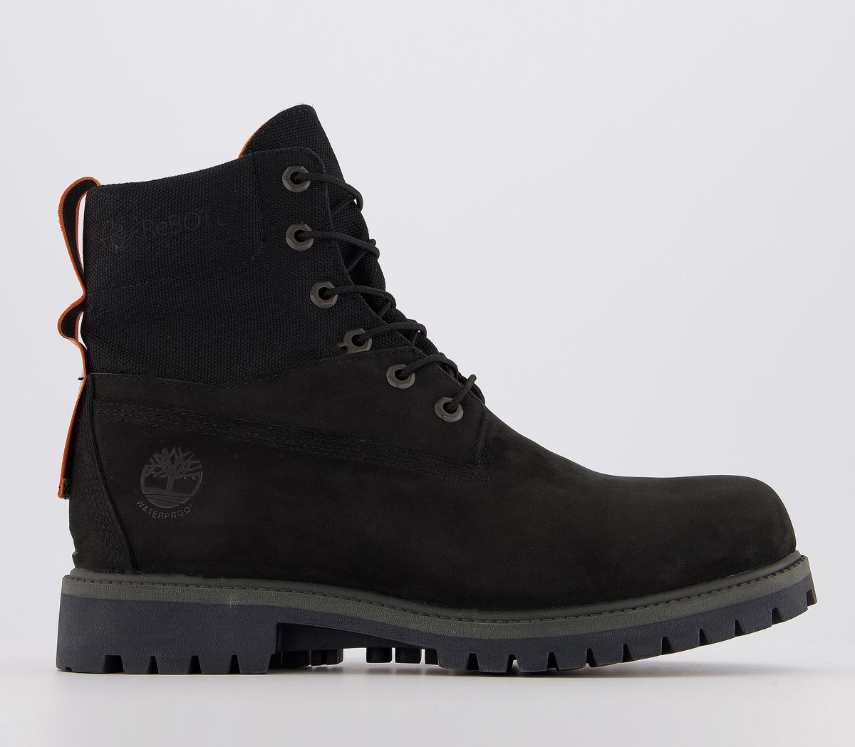 carne menor buque de vapor  Mens Timberland 6Inch Wp Treadlight Boots Black Nubuck Casual Shoes | eBay