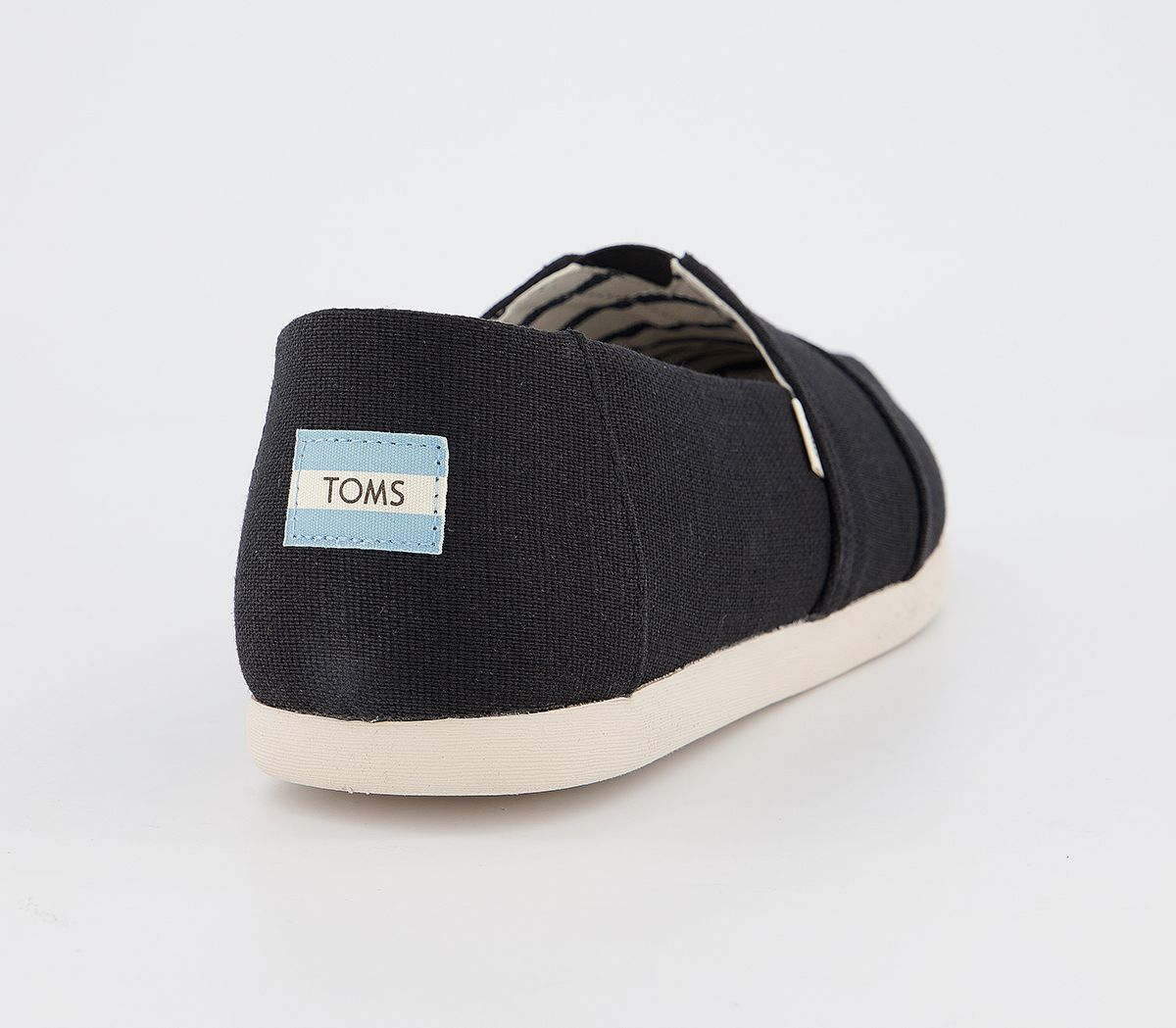 Da-Uomo-Toms-Toms-Classic-Alpargata-SLIP-ONS-BLACK-Heritage-Tela-Scarpe-Casual miniatura 4