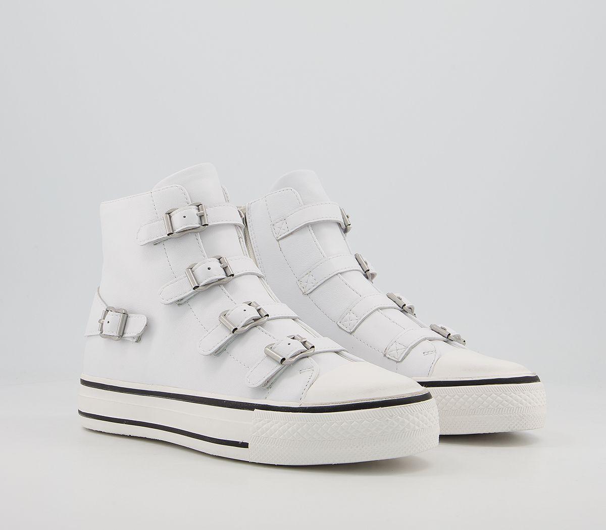 Womens-Ash-Genesis-Sneaker-White-Flats thumbnail 6