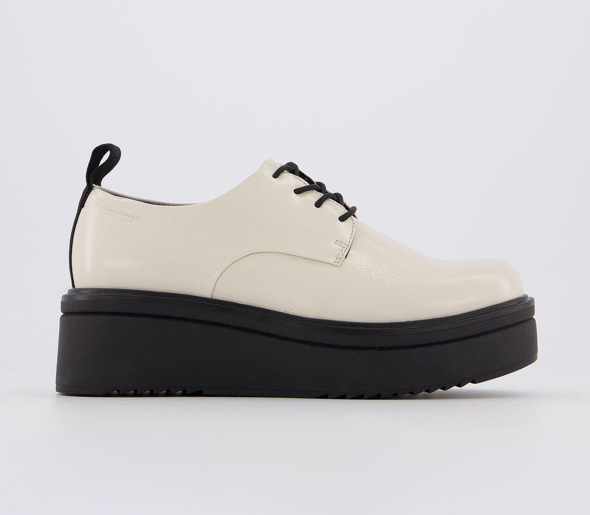 Detalles de Mujer Vagabond Tara Zapatos Blanco Roto Planos