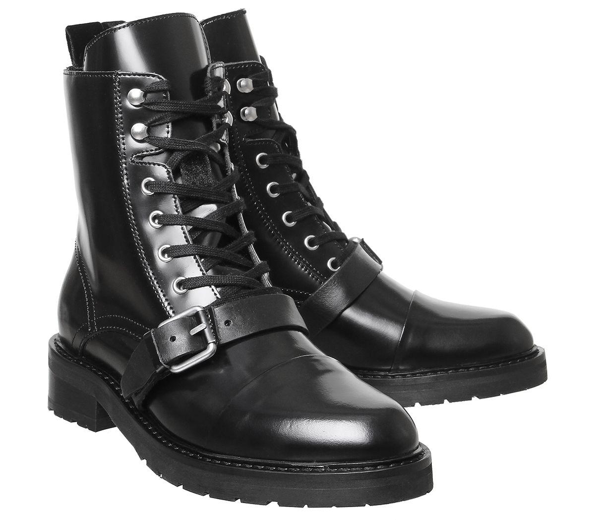Damen All Saints Donita Polido Stiefel Schwarz Boots