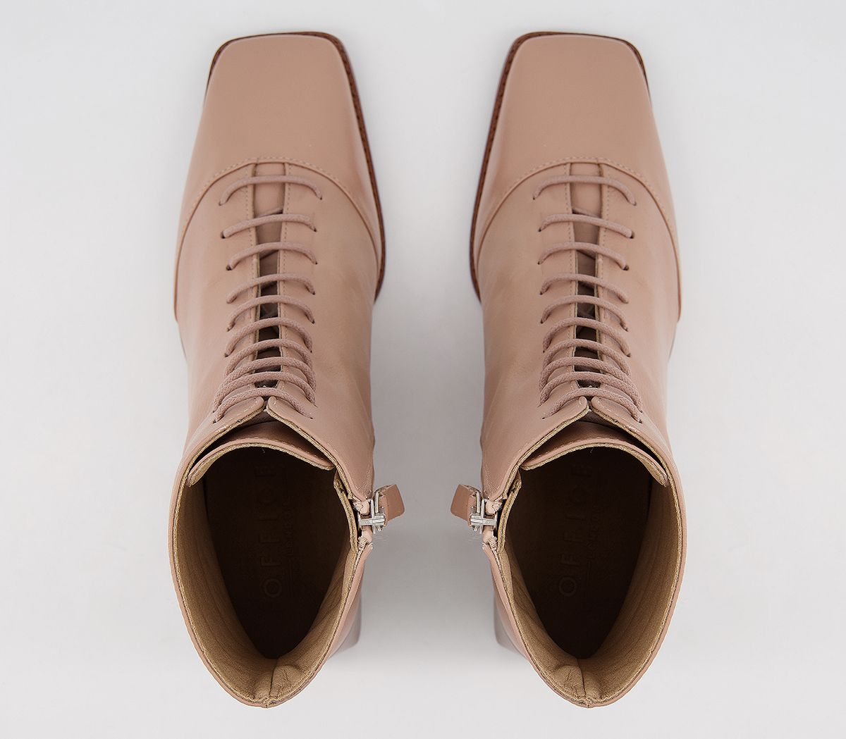 thumbnail 6 - Womens Office Ariella Lace Up Boots Biscuit Leather Boots