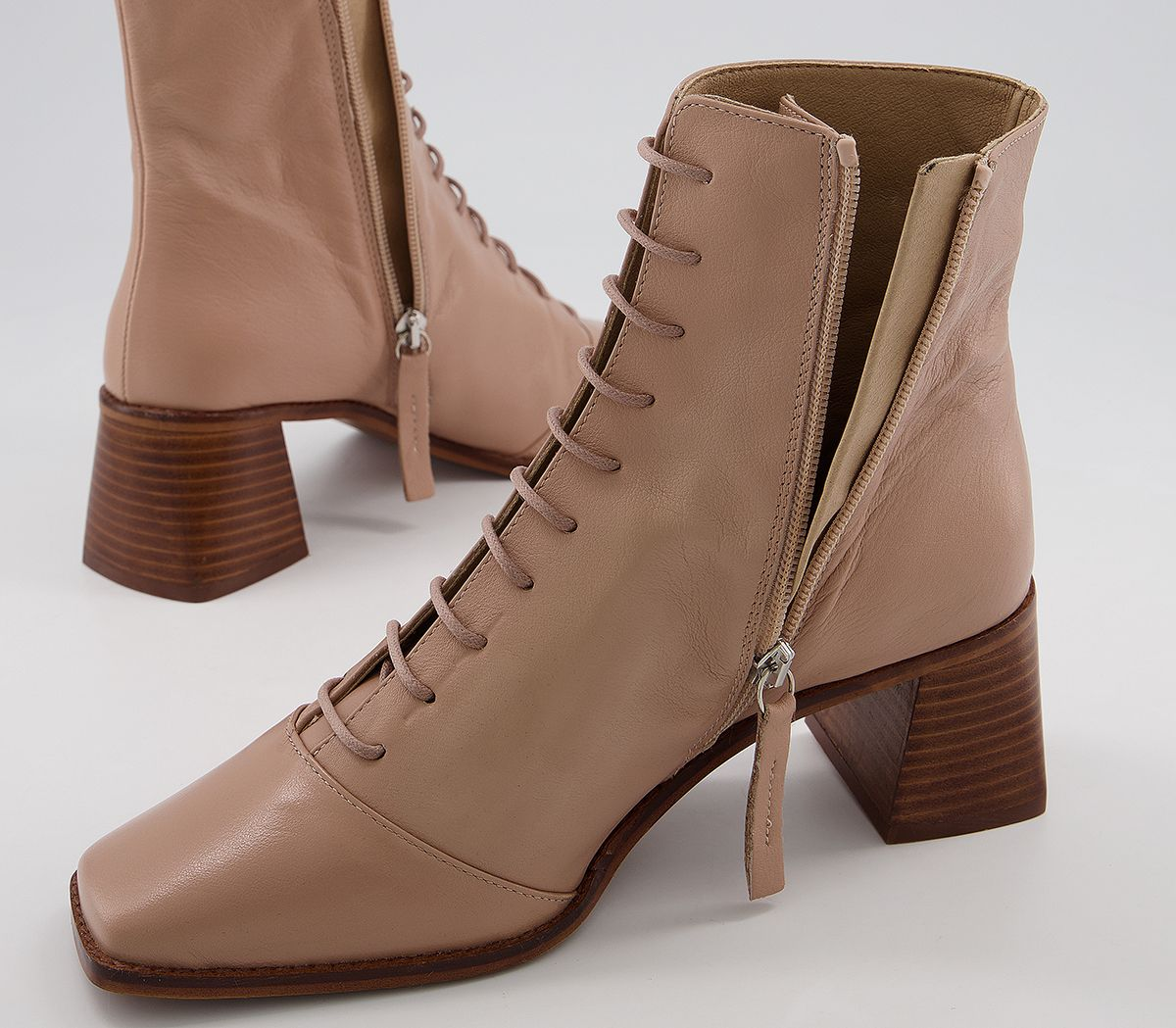 thumbnail 4 - Womens Office Ariella Lace Up Boots Biscuit Leather Boots
