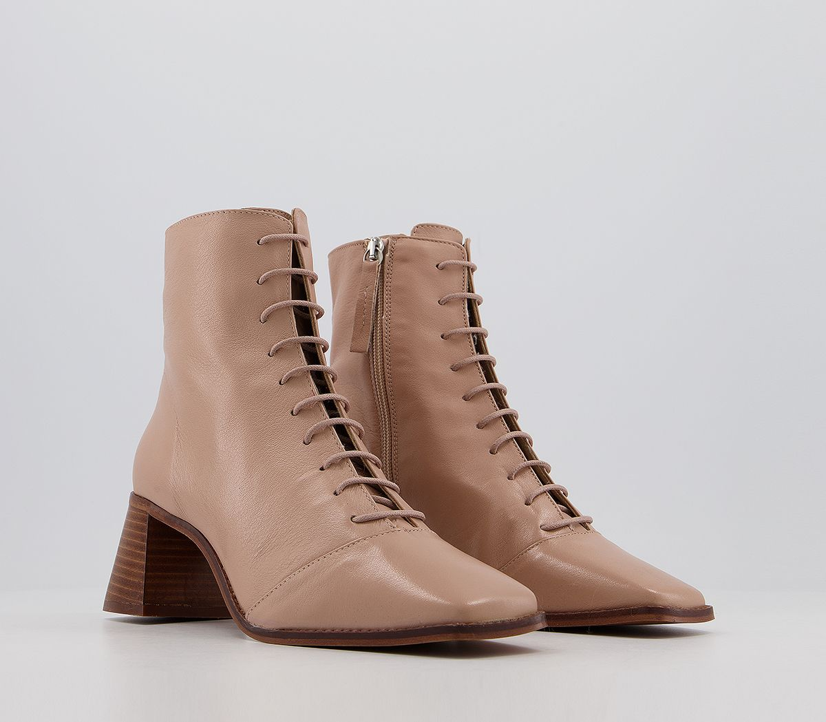 thumbnail 7 - Womens Office Ariella Lace Up Boots Biscuit Leather Boots