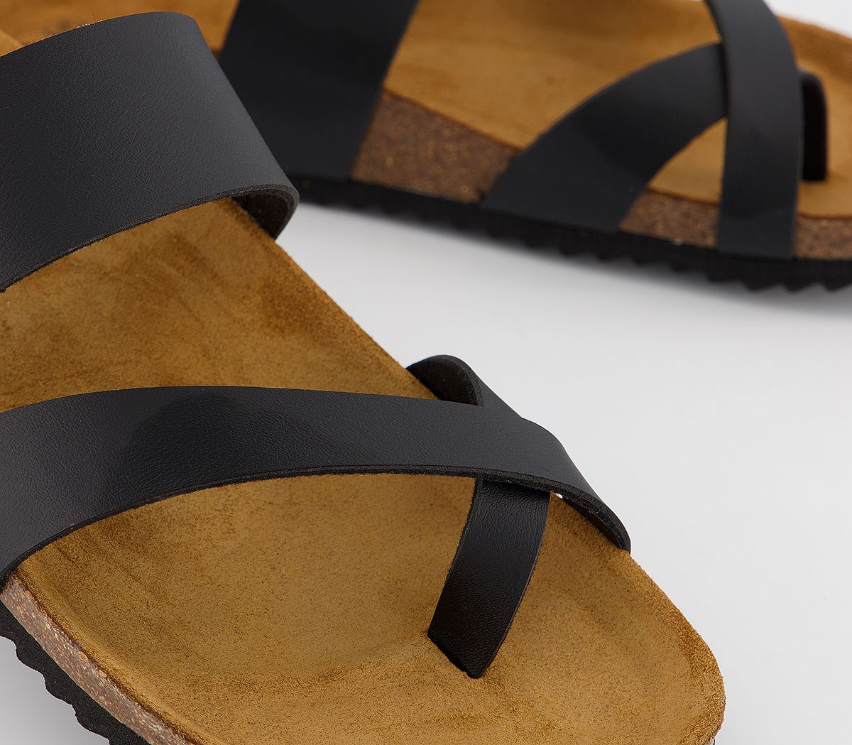 Womens Office Smokey Footbed Sandals Black Sandals