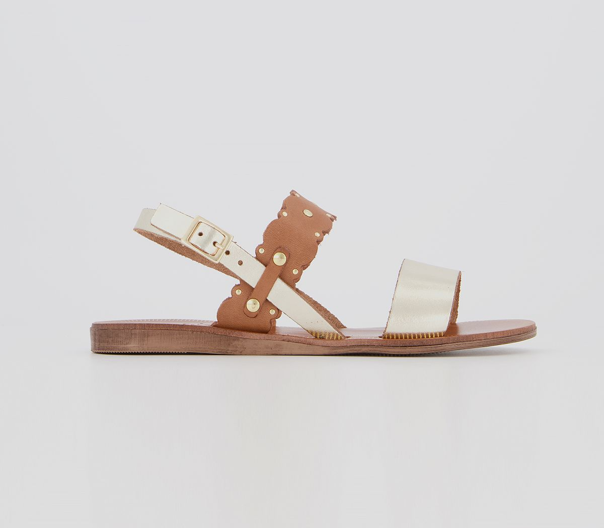 Womens Office Scallop Studded Sandals