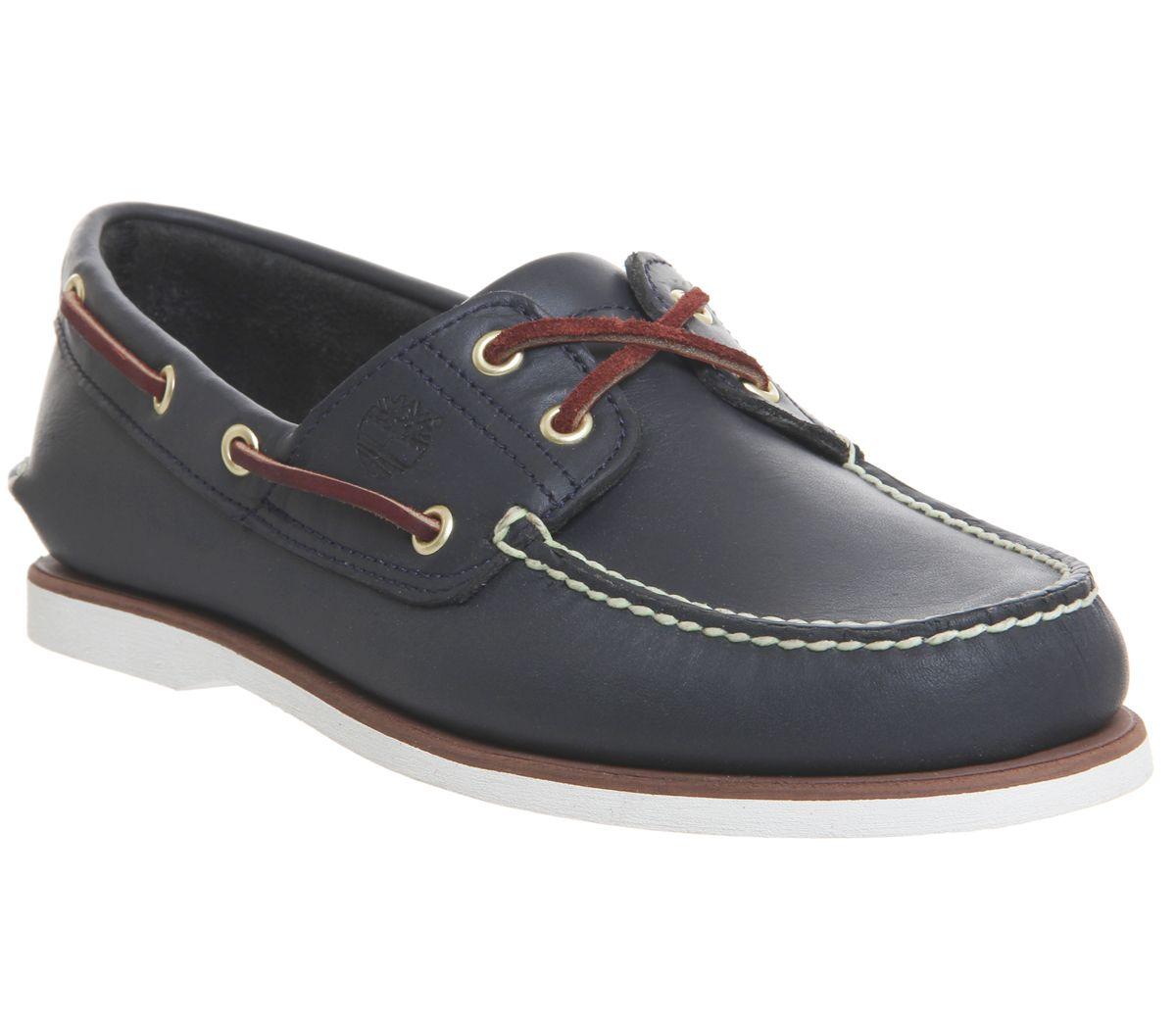 Detalles de Hombre Timberland Nuevo Zapatos Náuticos Azul Marino Zapatos Casuales Cuero