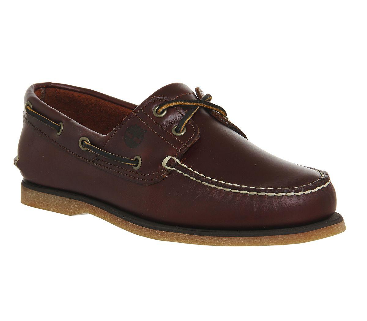 bcb12a96b547 SENTINEL Mens Timberland nuova barca scarpe Root Beer scarpe di cuoio casual
