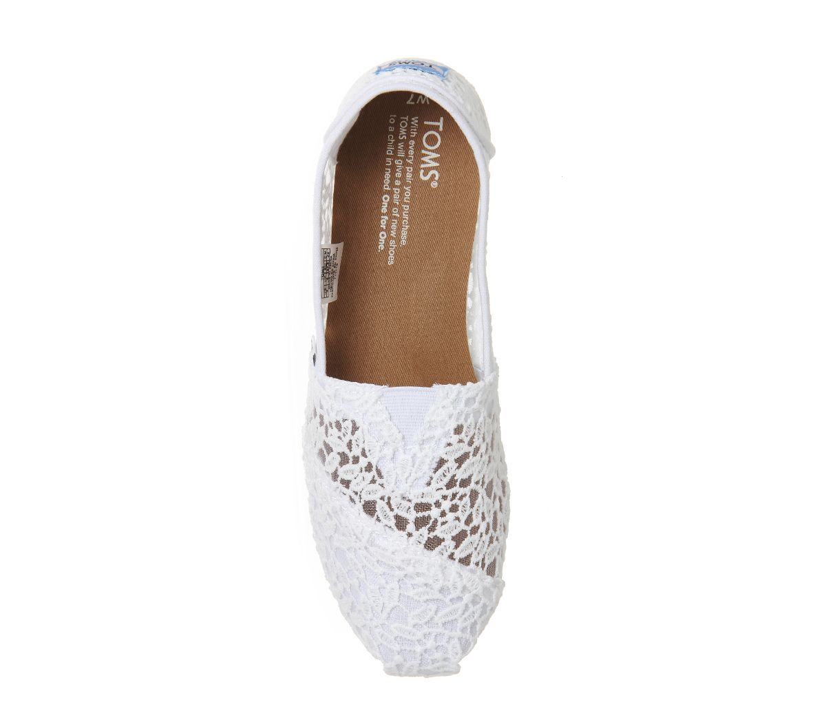 93eadcfc Womens Toms Seasonal Classic Slip On White Lace Leaves Flats | eBay