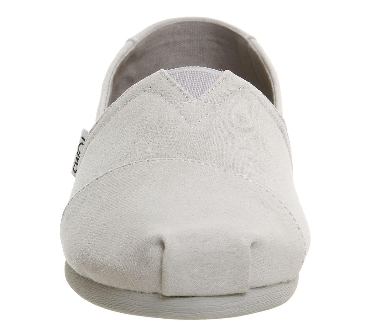Womens-Toms-Seasonal-Classic-Slip-On-Drizzle-Grey-Flats thumbnail 9