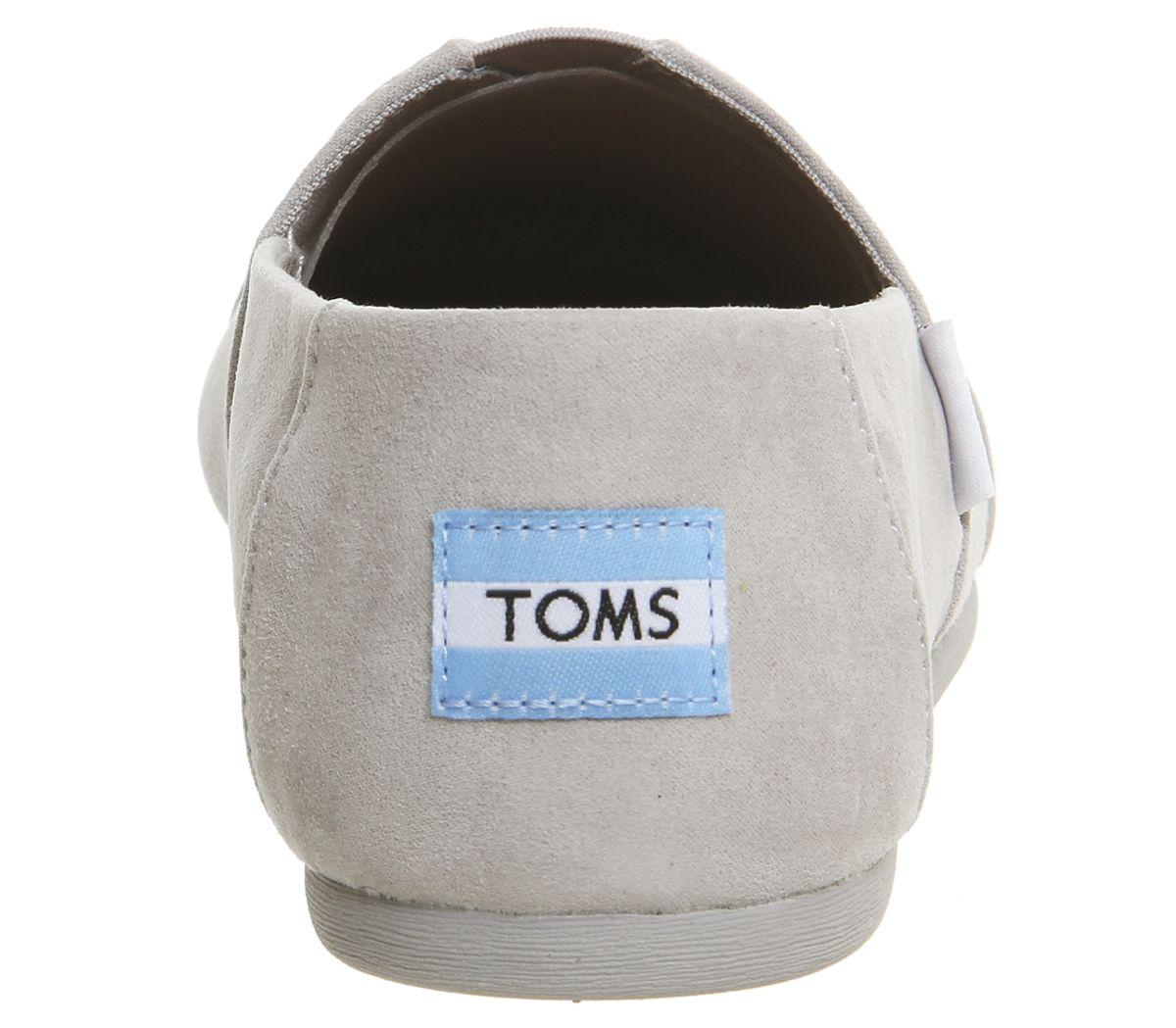Womens-Toms-Seasonal-Classic-Slip-On-Drizzle-Grey-Flats thumbnail 11