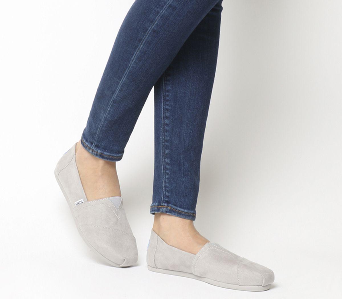 Womens-Toms-Seasonal-Classic-Slip-On-Drizzle-Grey-Flats thumbnail 3