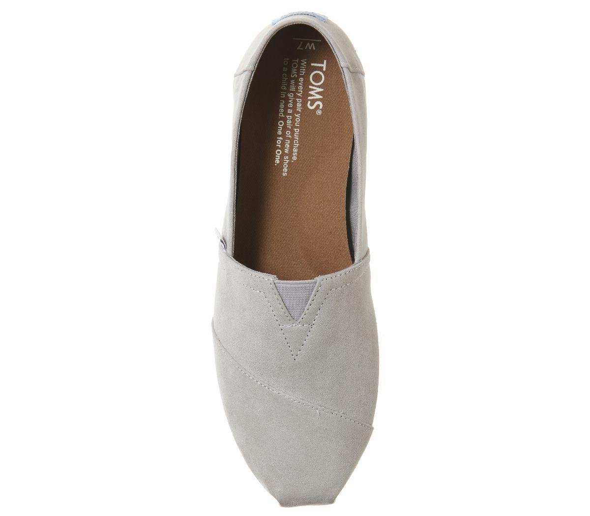 Womens-Toms-Seasonal-Classic-Slip-On-Drizzle-Grey-Flats thumbnail 13