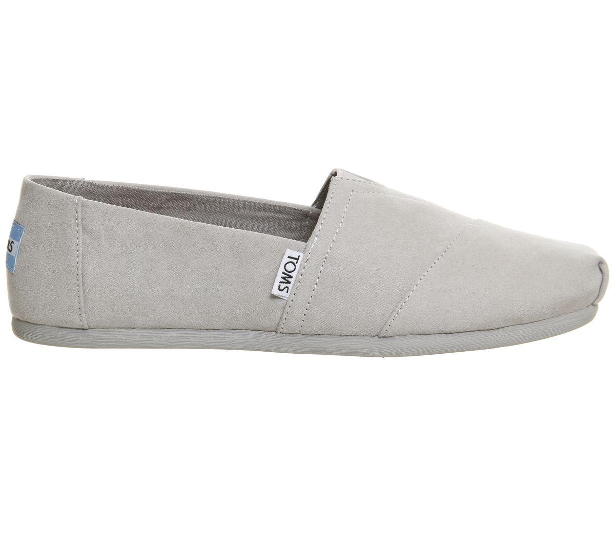 Womens-Toms-Seasonal-Classic-Slip-On-Drizzle-Grey-Flats thumbnail 5