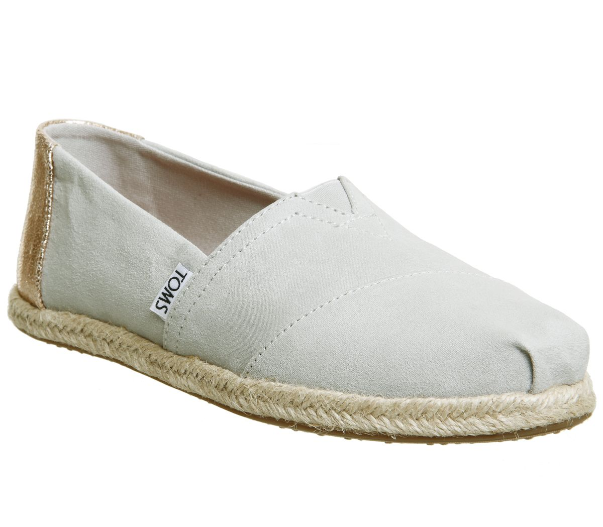 0ab650fd8b5 Sentinel Womens Toms Seasonal Classic Slip On Grey Violet Rose Gold Rope  Flats