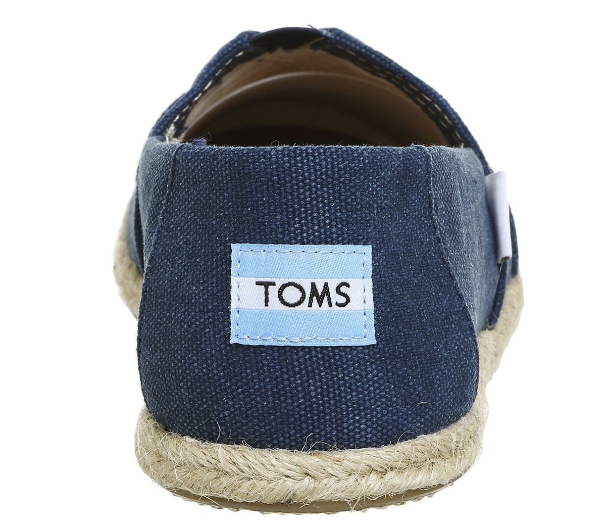 65f78d38144 Womens Toms Seasonal Classic Slip On Washed Navy Canvas Rope Sole ...