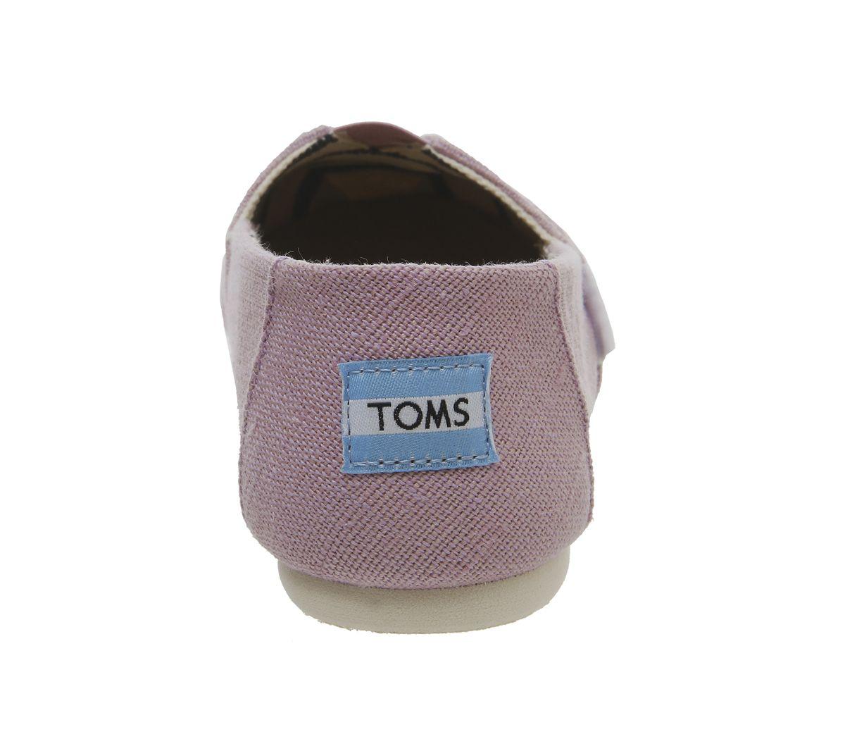 Womens-Toms-Seasonal-Classic-Slip-On-Flats-Soft-Lilac-Flats thumbnail 11