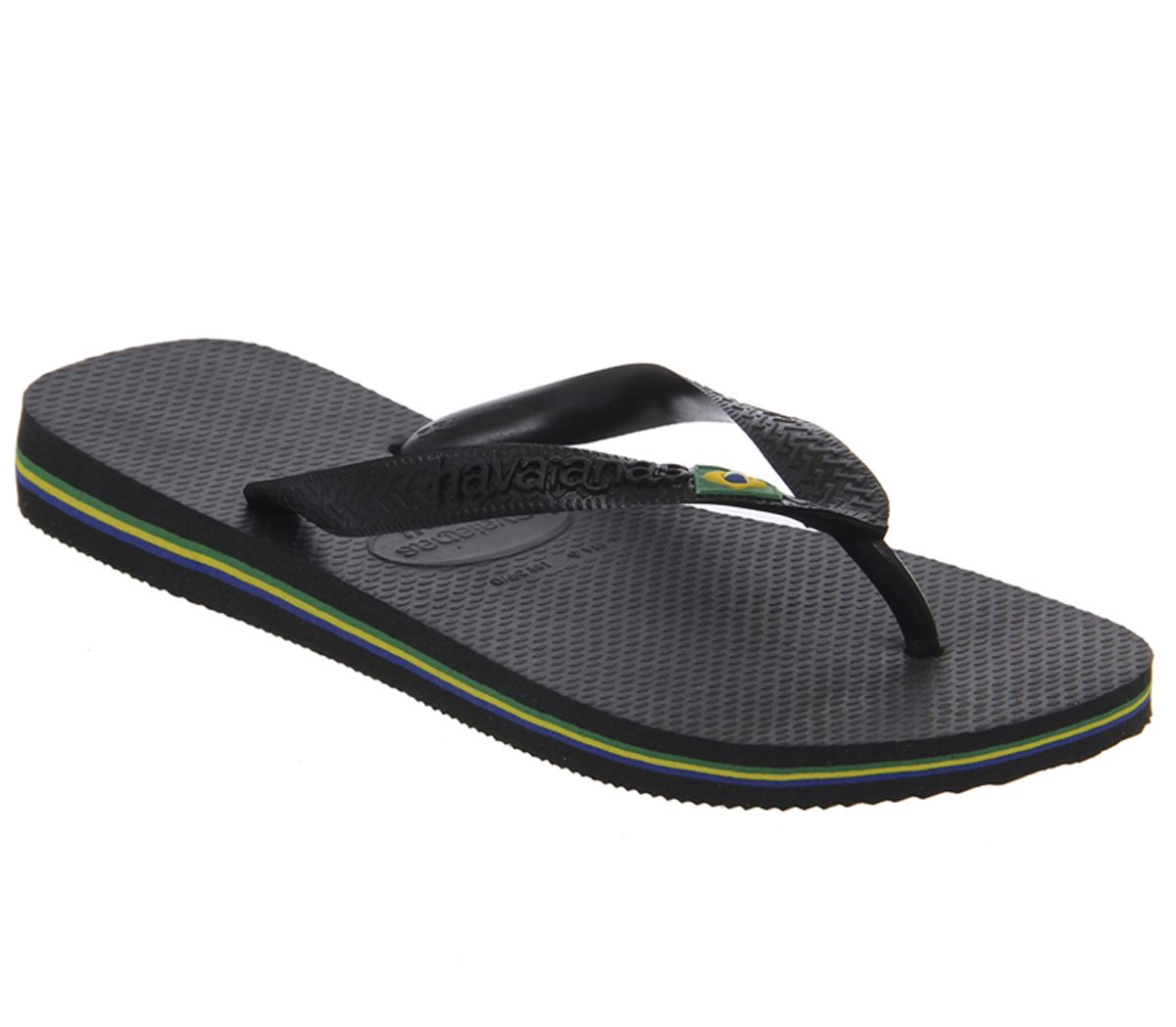 aa225383aaa8 Womens-Havaianas-Brazil-Flip-Flop-Black-Rubber-Sandals thumbnail