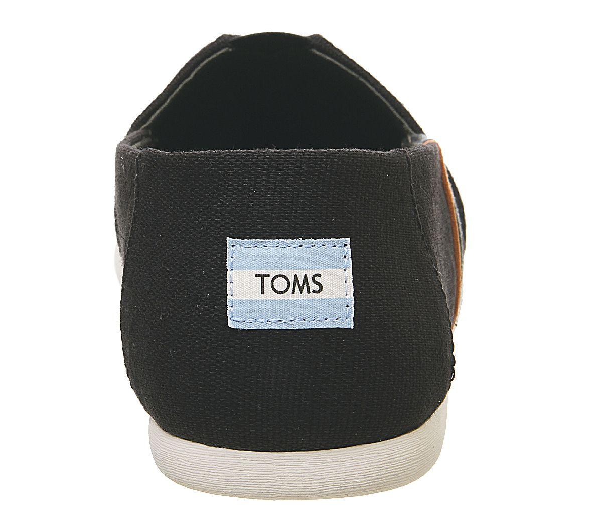 Da-Uomo-Toms-Toms-Classic-Nero-Oliva-Blocco-Tela-Scarpe-Casual miniatura 4