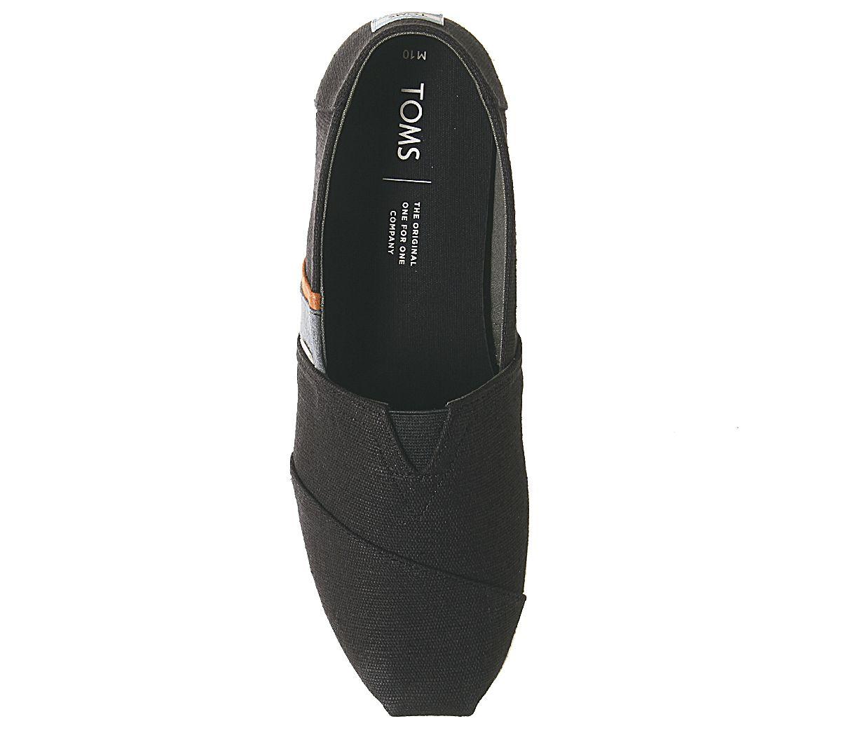 Da-Uomo-Toms-Toms-Classic-Nero-Oliva-Blocco-Tela-Scarpe-Casual miniatura 5