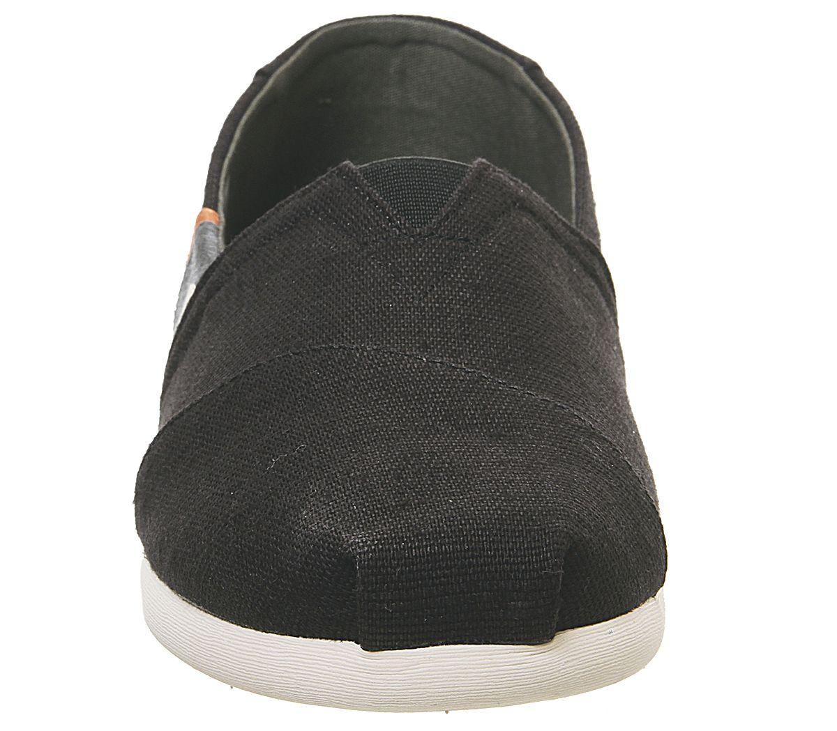 Da-Uomo-Toms-Toms-Classic-Nero-Oliva-Blocco-Tela-Scarpe-Casual miniatura 3