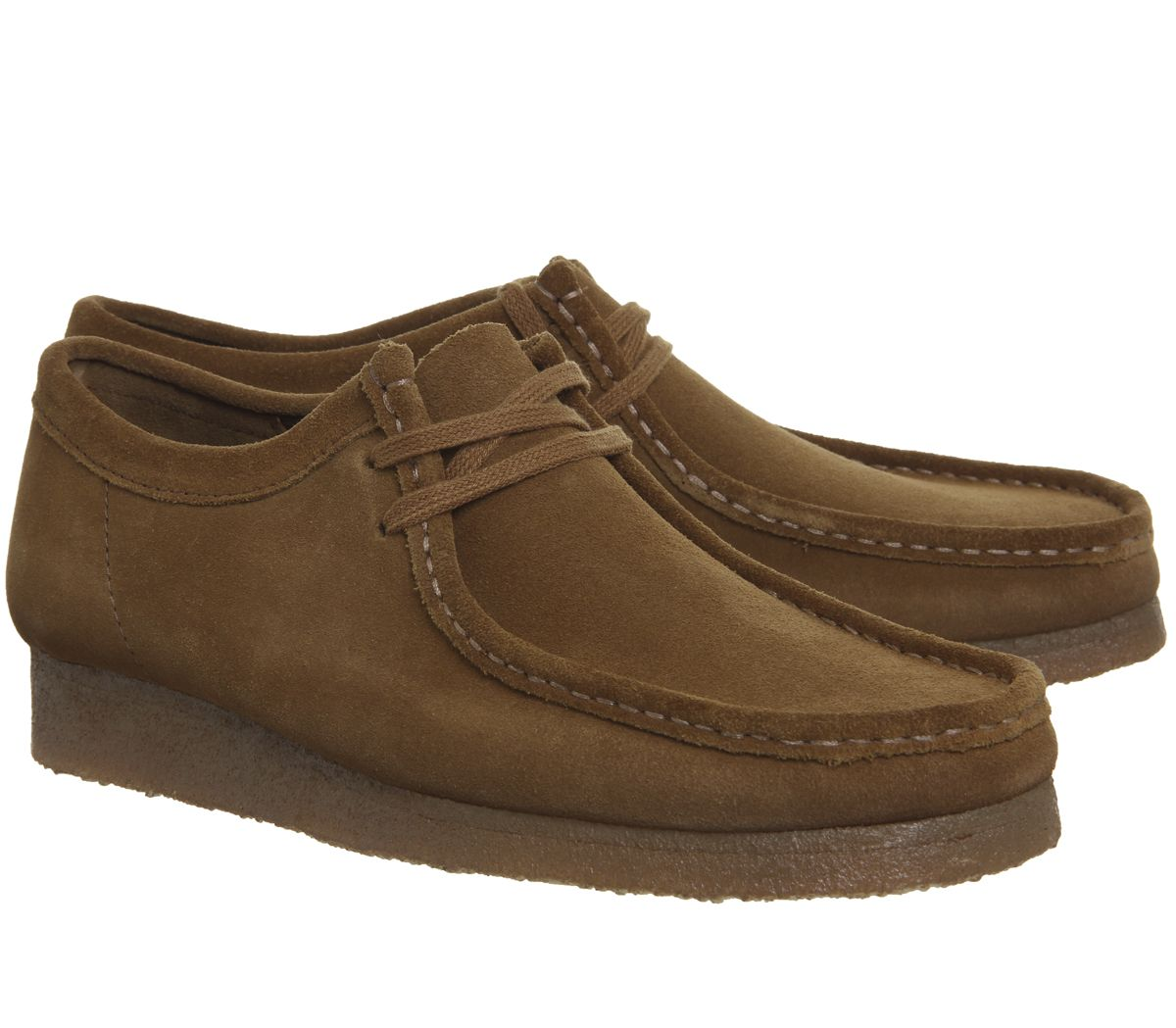 Details zu Herren Clarks Originals Wallabee Schuhe Cola Wildleder Neu Freizeitschuhe