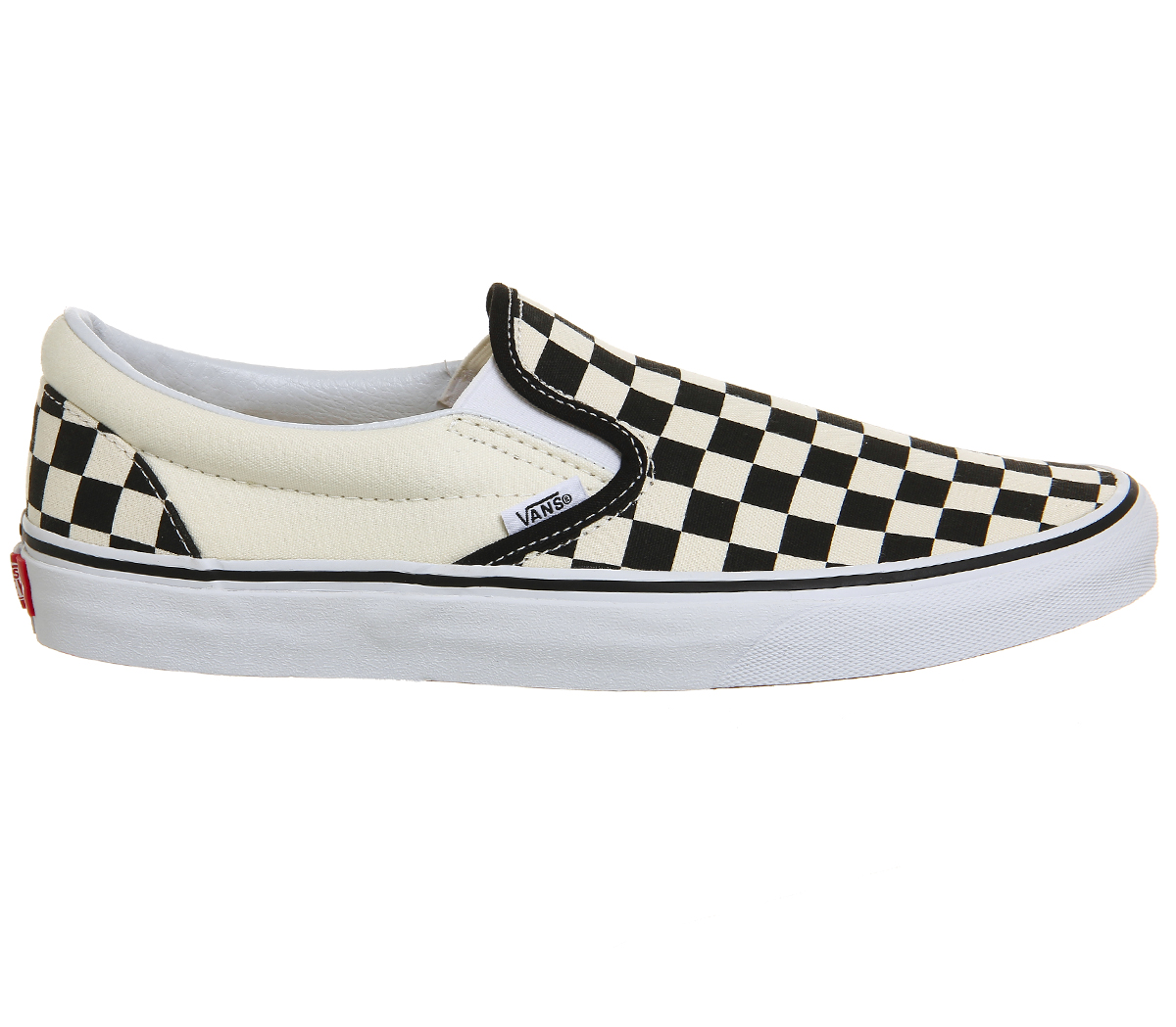 4c4a07a42c89 Sentinel Mens Vans Classic Slip On Trainers Black White Check Trainers Shoes