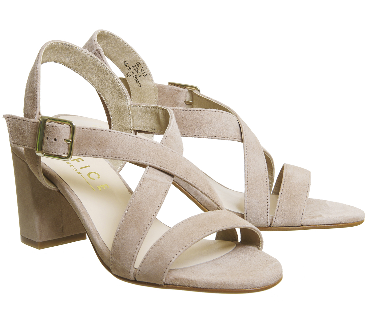 Womens Office Marshmallow Block Heel Heels Sandals NUDE KID SUEDE Heels Heel 1beadd