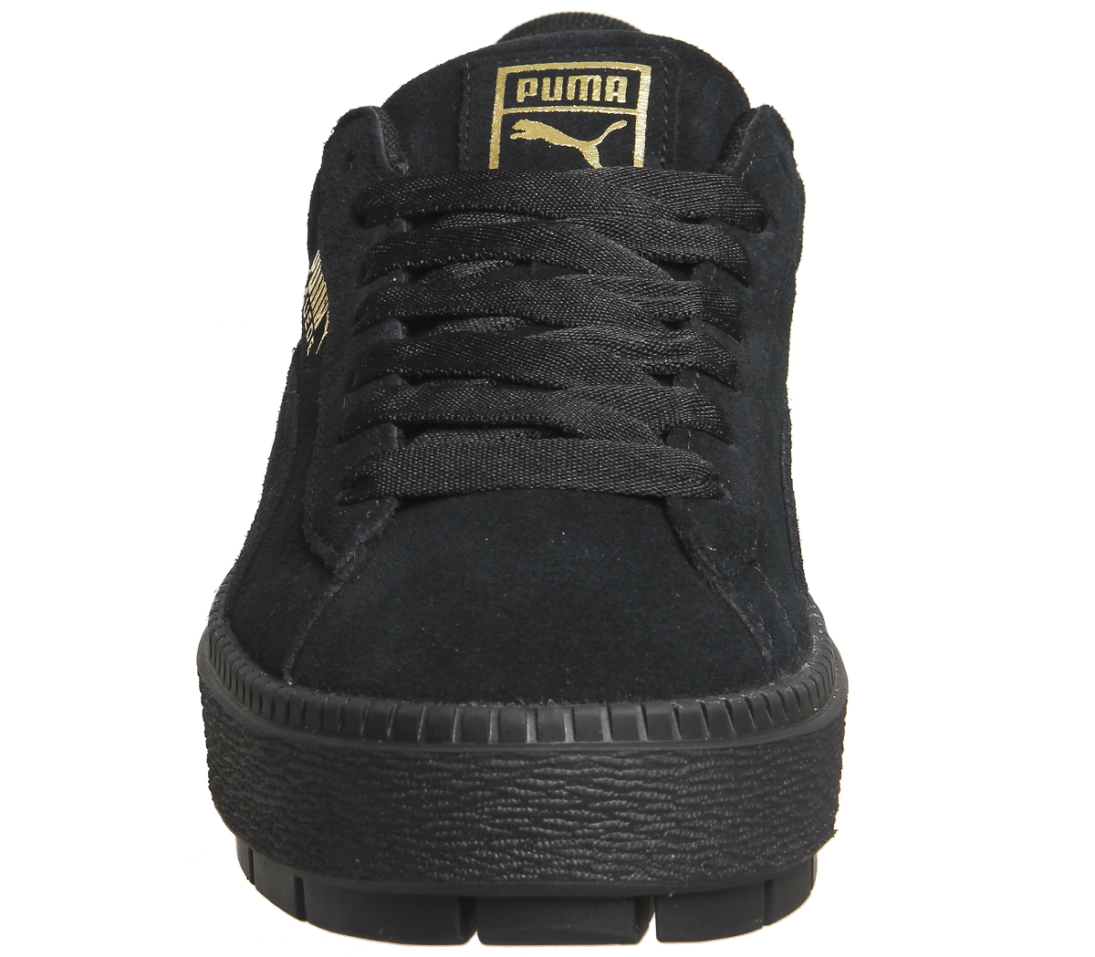 Womens Puma Suede Platform Trace Trainers PUMA BLACK Trainers Shoes ... f6d9d1ad5