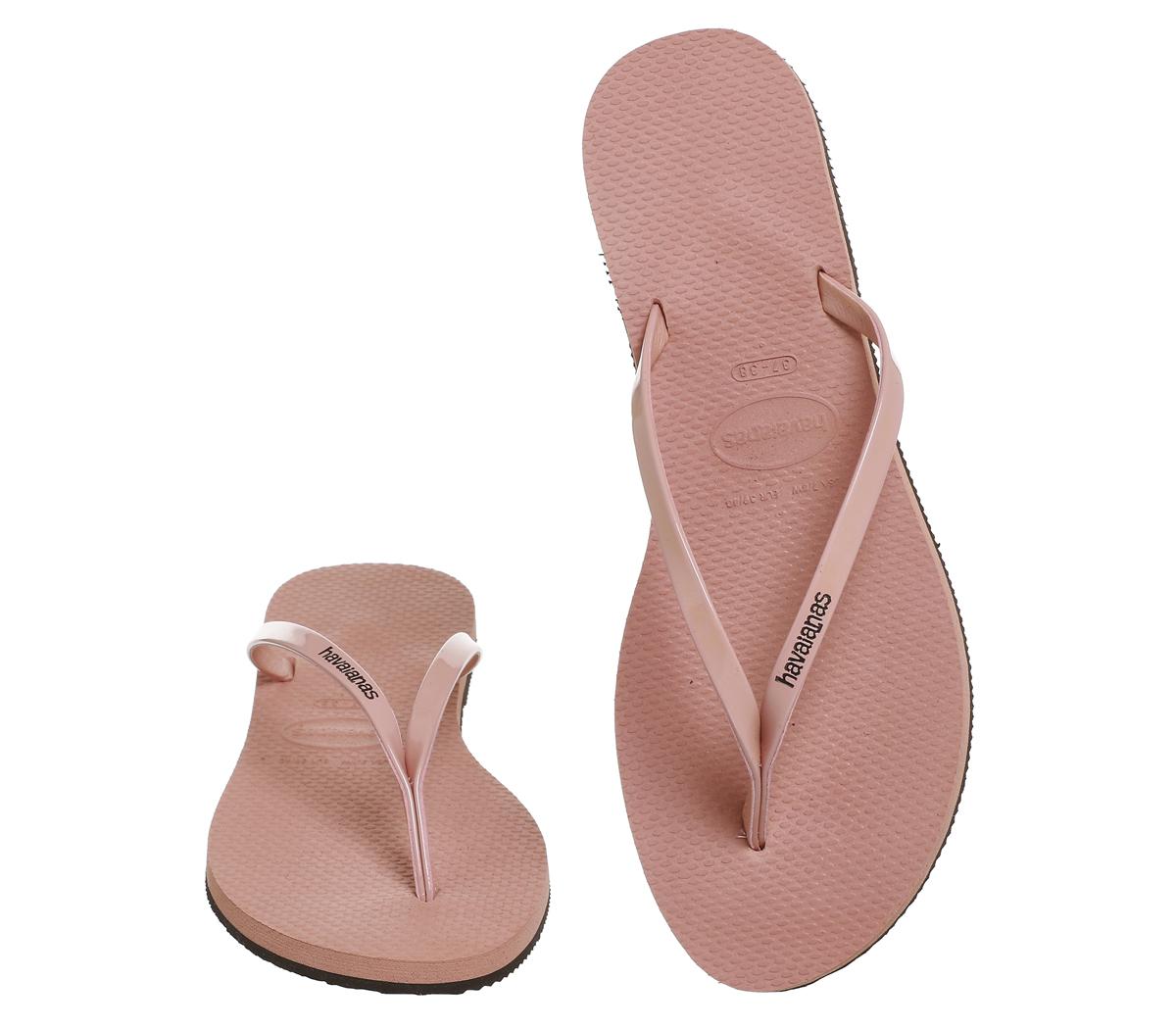 27743bb73 Sentinel Womens Havaianas Slim You Metallic Flip Flops LIGHT ROSE Sandals