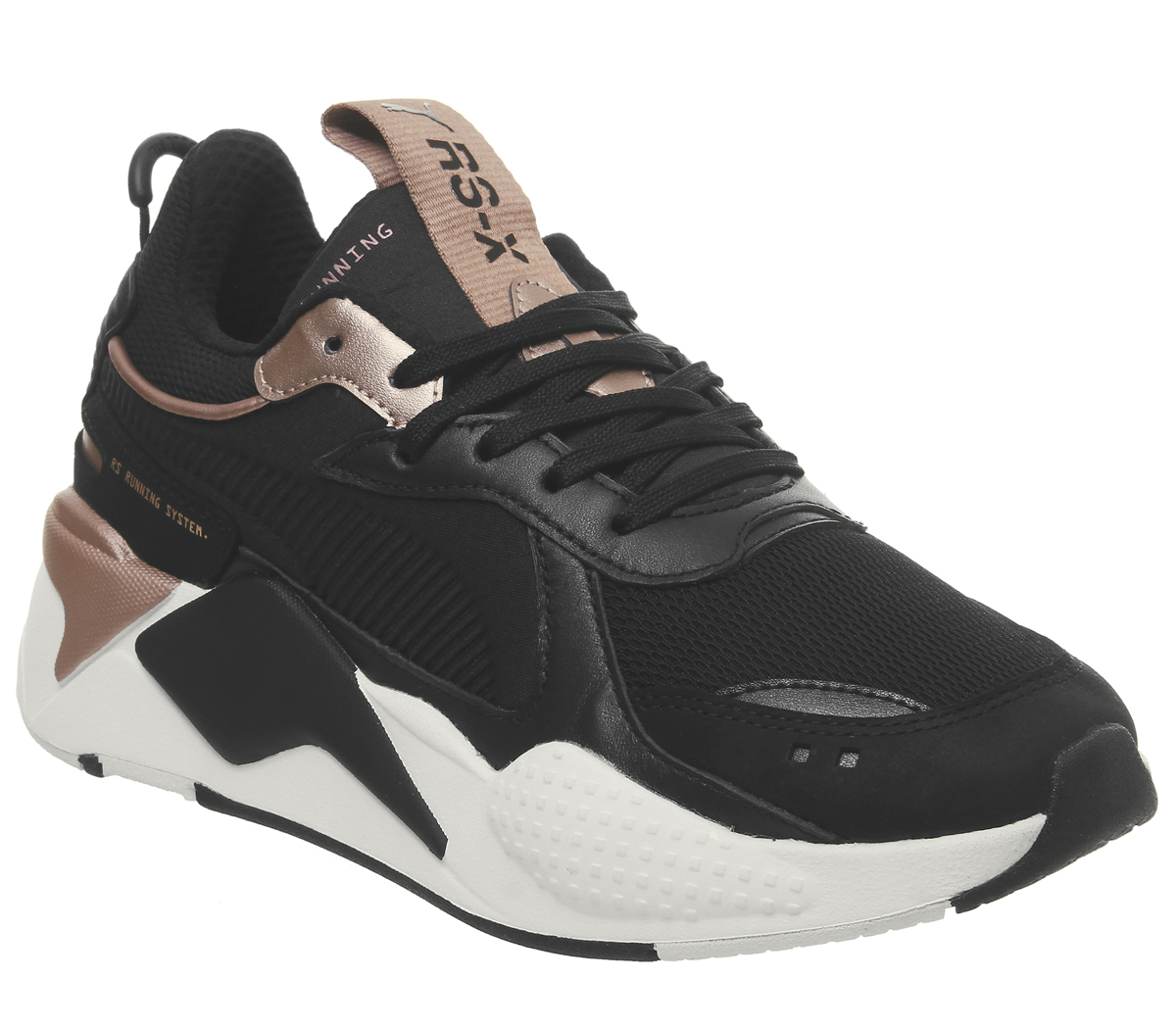 fc62afd13807 Sentinel Womens Puma Rs-X Trophy Trainers Puma Black Rose Gold Trainers  Shoes