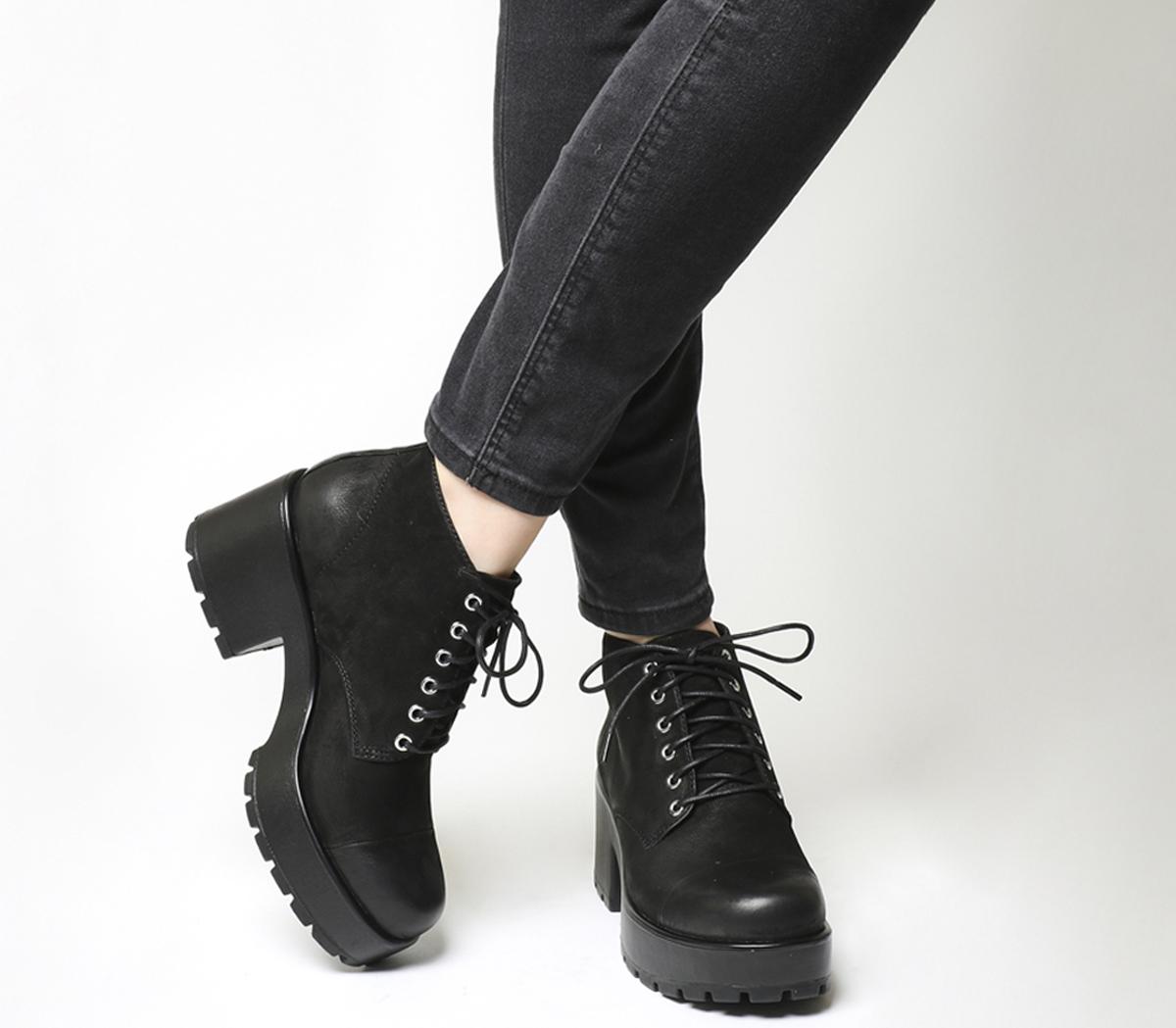 Vagabond Dioon Lace Up Boot Black