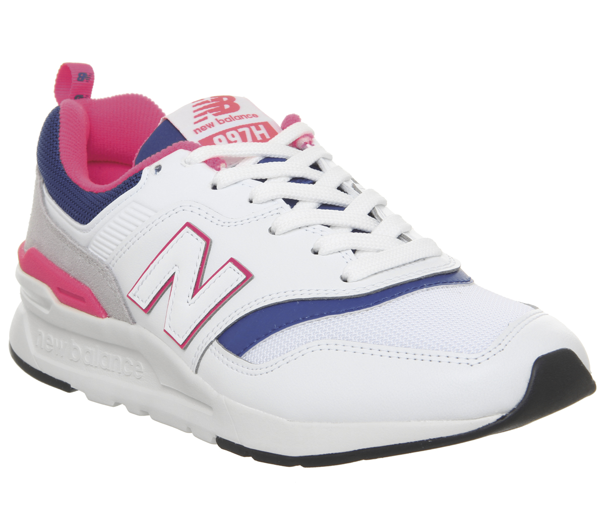 newest dd108 34904 Détails sur New Balance 997 Chaussures Blanches Laser Bleu Baskets
