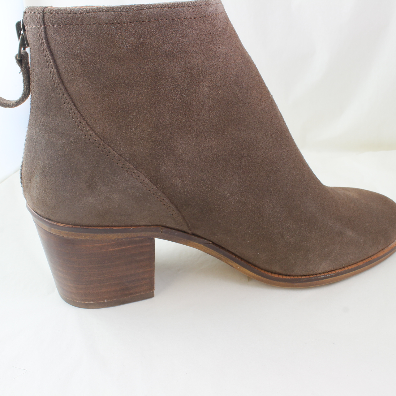 e7f265e5aba69 Sentinel Womens Office Brown Suede Zip Ankle Boots Size UK 3  Ex-Display