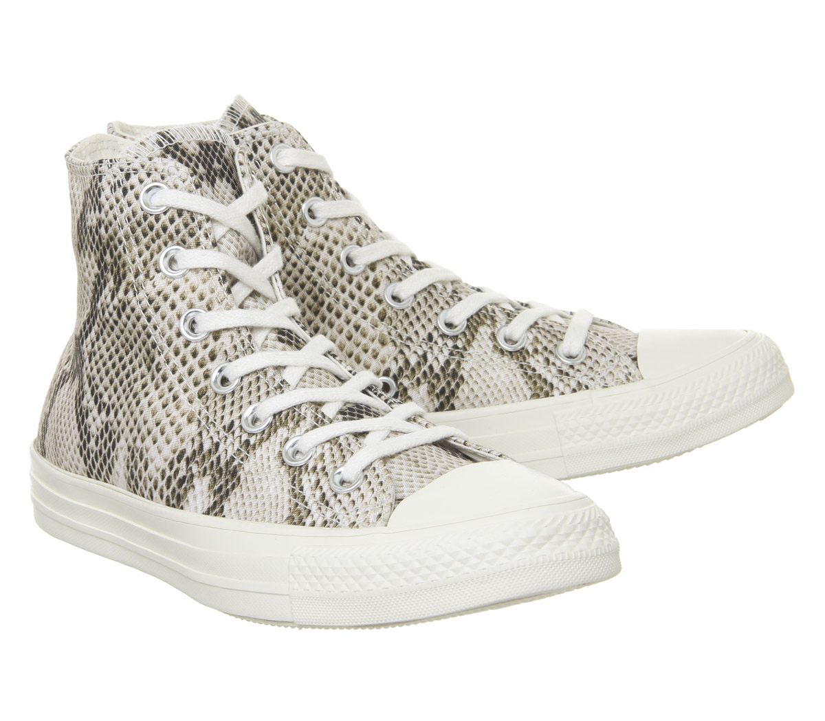 Womens-Converse-Converse-All-Star-Hi-Trainers-Egret-Black-Snake-Trainers-Shoes thumbnail 8