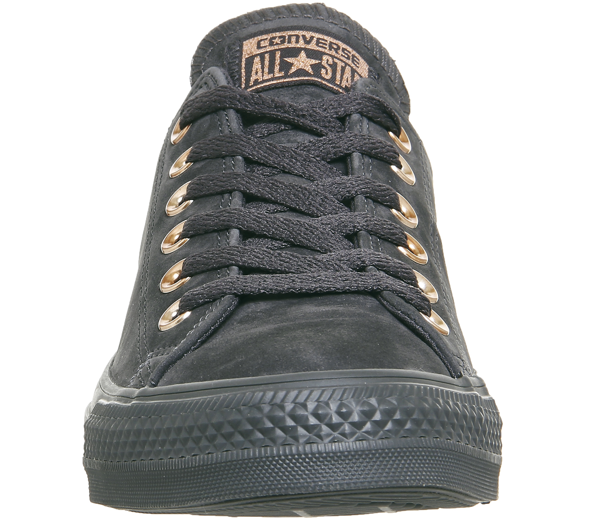 e1748a448e17 Sentinel Womens Converse All Star Low Leather ALMOST BLACK ROSE GOLD  Trainers Shoes